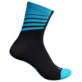 GripGrab Racing Stripes Socks Black/Blue